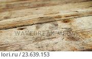 Купить «Star shape ornament with pine cone and jingle bell on a plank», видеоролик № 23639153, снято 2 июля 2020 г. (c) Wavebreak Media / Фотобанк Лори