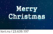 Купить «Illustration of christmas greeting with merry christmas message», видеоролик № 23639197, снято 22 мая 2019 г. (c) Wavebreak Media / Фотобанк Лори
