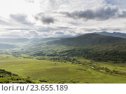 Купить «view to Killarney National Park valley in ireland», фото № 23655189, снято 25 июня 2016 г. (c) Syda Productions / Фотобанк Лори