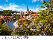 Купить «Чески Крумлов, Чешская Республика», фото № 23670089, снято 9 мая 2014 г. (c) Вероника Галкина / Фотобанк Лори
