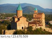 Купить «Gremi orthodox monastery and church complex in Kakheti Georgia», фото № 23670509, снято 21 сентября 2015 г. (c) Дмитрий Калиновский / Фотобанк Лори