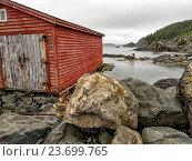 Купить «Fishing Shack Newfoundland.», фото № 23699765, снято 12 июля 2016 г. (c) age Fotostock / Фотобанк Лори