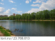 Купить «Мазиловский пруд. Район Фили-Давыдково. Москва», эксклюзивное фото № 23708013, снято 19 мая 2009 г. (c) lana1501 / Фотобанк Лори