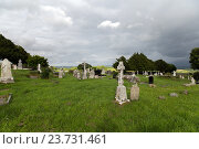 Купить «old celtic cemetery graveyard in ireland», фото № 23731461, снято 24 июня 2016 г. (c) Syda Productions / Фотобанк Лори