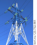 Опора высоковольтной ЛЭП. Стоковое фото, фотограф ViktoriiaMur / Фотобанк Лори