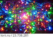 Купить «Электрическая гирлянда», фото № 23738281, снято 18 декабря 2011 г. (c) Наталья Двухимённая / Фотобанк Лори