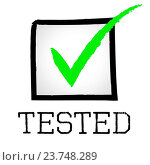 Tick Tested Representing Excellence Tests And Confirm. Стоковое фото, фотограф stuartmiles / easy Fotostock / Фотобанк Лори