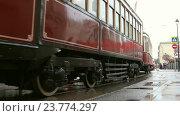 "Парад трамваев 2016: трамваи серии ""БФ"" и ""КМ"" Редакционное видео, видеограф Nadya S. / Фотобанк Лори"