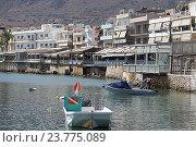 Купить «Лодки в гавани города Hersonisos. Крит. Греция», фото № 23775089, снято 18 сентября 2016 г. (c) Алексей Сварцов / Фотобанк Лори