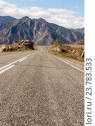 Купить «Пустая дорога в горы», фото № 23783533, снято 21 сентября 2009 г. (c) Argument / Фотобанк Лори