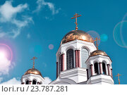 Купить «Екатеринбург. Храм-на-Крови .», фото № 23787281, снято 26 апреля 2014 г. (c) Сергеев Валерий / Фотобанк Лори