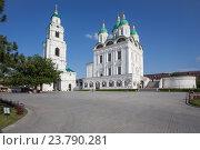 Купить «Успенский собор и колокольня Астраханского кремля», фото № 23790281, снято 24 октября 2018 г. (c) Igor Lijashkov / Фотобанк Лори