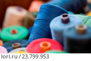 Купить «Closeup image of various colour thread rolls», фото № 23799953, снято 6 июня 2013 г. (c) easy Fotostock / Фотобанк Лори