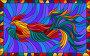 Иллюстрация в стиле витражного стекла с абстрактными летящим петухом, иллюстрация № 23802953 (c) Наталья Загорий / Фотобанк Лори