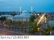 Купить «Махачкала. Центральная Джума-мечеть («Юсуф Бей Джами»)», эксклюзивное фото № 23803401, снято 21 сентября 2016 г. (c) Литвяк Игорь / Фотобанк Лори