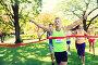 happy young male runner winning on race finish, фото № 23816325, снято 16 августа 2015 г. (c) Syda Productions / Фотобанк Лори