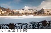 Шереметевский дворец, зимняя Фонтанка. Санкт-Петербург (2010 год). Стоковое фото, фотограф Александр Алексеев / Фотобанк Лори