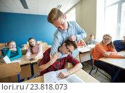 Купить «student boy suffering of classmate mockery», фото № 23818073, снято 22 апреля 2016 г. (c) Syda Productions / Фотобанк Лори