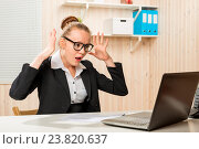 Купить «emotional upset accountant discovered the blunder in the program on the computer», фото № 23820637, снято 3 июня 2020 г. (c) Константин Лабунский / Фотобанк Лори