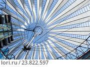 Купить «Roof detail arount Potsdamer Platz (Berlin, Germany).», фото № 23822597, снято 23 июля 2013 г. (c) Юрий Брыкайло / Фотобанк Лори