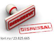 Купить «Увольнение. Печать и оттиск», иллюстрация № 23825665 (c) WalDeMarus / Фотобанк Лори