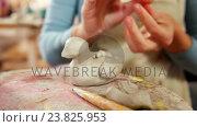 Купить «Mother and daughter making a toy from clay», видеоролик № 23825953, снято 5 апреля 2020 г. (c) Wavebreak Media / Фотобанк Лори