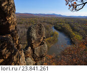 Купить «Вид долины реки Уссури», фото № 23841261, снято 13 октября 2012 г. (c) Олег Рубик / Фотобанк Лори