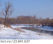Купить «Маленькая река зимой», фото № 23841637, снято 23 декабря 2012 г. (c) Олег Рубик / Фотобанк Лори