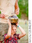 Купить «Звукотерапия, Аркаим», фото № 23842017, снято 21 июня 2015 г. (c) Хайрятдинов Ринат / Фотобанк Лори