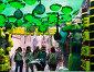 Gracia Festival Decorations in Barcelon. Theme of toxic waste, фото № 23843005, снято 16 августа 2015 г. (c) Яков Филимонов / Фотобанк Лори