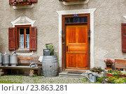 Купить «Old traditional stone house in Bergün, Grisons, Switzerland», фото № 23863281, снято 9 июля 2016 г. (c) age Fotostock / Фотобанк Лори