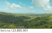 Купить «Филиппинки джунгли и лес. Воздушные виды», видеоролик № 23885901, снято 1 августа 2016 г. (c) Mikhail Davidovich / Фотобанк Лори