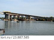 Строящийся мост через реку Дон. Стоковое фото, фотограф Валерий Иванец / Фотобанк Лори