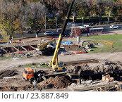 Купить «Строительные работы», фото № 23887849, снято 10 октября 2016 г. (c) Светлана Кириллова / Фотобанк Лори