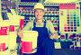 builder workman in household store, фото № 23888717, снято 22 октября 2016 г. (c) Яков Филимонов / Фотобанк Лори