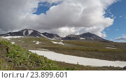 Купить «Камчатка, Мутновский вулкан (time lapse)», видеоролик № 23899601, снято 19 ноября 2017 г. (c) А. А. Пирагис / Фотобанк Лори