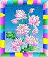 Розовые цветы, витраж, иллюстрация № 23906149 (c) Наталья Загорий / Фотобанк Лори