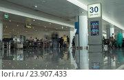 Купить «HANOI, VIETNAM - OCTOBER 27, 2015: Time lapse shot of Noi Bai International Airport», видеоролик № 23907433, снято 27 октября 2015 г. (c) Данил Руденко / Фотобанк Лори