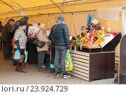 Купить «Ярмарка выходного дня в Москве», фото № 23924729, снято 23 октября 2016 г. (c) Бурмистрова Ирина / Фотобанк Лори