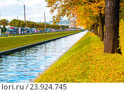 Лебяжья канавка - осенний пейзаж, Санкт-Петербург, Россия, фото № 23924745, снято 3 октября 2016 г. (c) Зезелина Марина / Фотобанк Лори