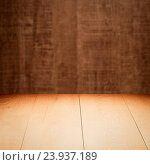 Купить «Wood background - table with wooden wall», фото № 23937189, снято 7 ноября 2014 г. (c) easy Fotostock / Фотобанк Лори