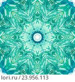 Рисунок акварельными красками. Мандала. Стоковое фото, фотограф Екатерина Кулаева / Фотобанк Лори