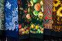 Знаменитые платки в ассортименте с различными рисунками Павловопосадской платочной мануфактуры в фирменном магазине в Павловском Посаде, Россия, фото № 23958025, снято 26 октября 2016 г. (c) Николай Винокуров / Фотобанк Лори