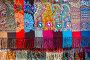 Знаменитые платки в ассортименте с различными рисунками Павловопосадской платочной мануфактуры в фирменном магазине, фото № 23958053, снято 26 октября 2016 г. (c) Николай Винокуров / Фотобанк Лори