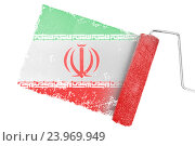 Купить «Composite image of iran national flag», фото № 23969949, снято 26 июня 2019 г. (c) Wavebreak Media / Фотобанк Лори