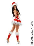 Сексуальная девушка в новогоднем костюме, фото № 23971245, снято 1 декабря 2012 г. (c) Евгений Захаров / Фотобанк Лори