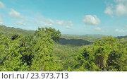 Купить «Филиппинские джунгли и леса. Вид с воздуха», видеоролик № 23973713, снято 1 августа 2016 г. (c) Mikhail Davidovich / Фотобанк Лори
