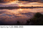 Осеннее отражение на воде. Стоковое фото, фотограф Павел / Фотобанк Лори