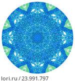 Синяя акварельная мандала. Стоковое фото, фотограф Екатерина Кулаева / Фотобанк Лори
