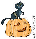 Купить «Тыквы на Хэллоуин», иллюстрация № 23992921 (c) Елисеева Екатерина / Фотобанк Лори